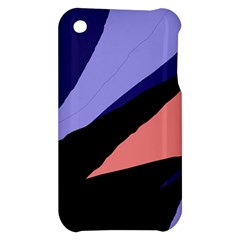 Purple and pink abstraction Apple iPhone 3G/3GS Hardshell Case