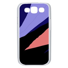 Purple and pink abstraction Samsung Galaxy S III Case (White)