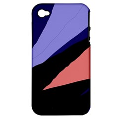 Purple and pink abstraction Apple iPhone 4/4S Hardshell Case (PC+Silicone)