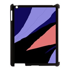 Purple and pink abstraction Apple iPad 3/4 Case (Black)