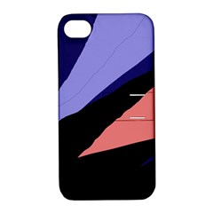 Purple and pink abstraction Apple iPhone 4/4S Hardshell Case with Stand
