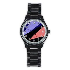 Purple and pink abstraction Stainless Steel Round Watch