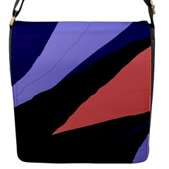 Purple and pink abstraction Flap Messenger Bag (S)