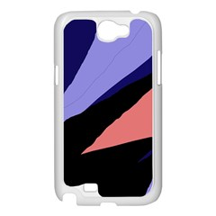 Purple and pink abstraction Samsung Galaxy Note 2 Case (White)