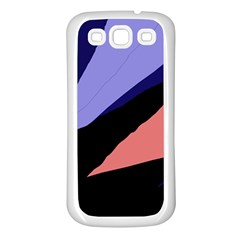 Purple and pink abstraction Samsung Galaxy S3 Back Case (White)