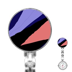 Purple and pink abstraction Stainless Steel Nurses Watch
