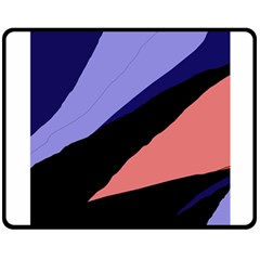 Purple and pink abstraction Double Sided Fleece Blanket (Medium)