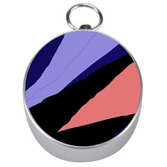 Purple and pink abstraction Silver Compasses