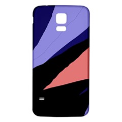 Purple and pink abstraction Samsung Galaxy S5 Back Case (White)