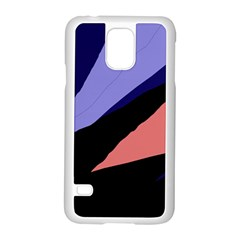 Purple and pink abstraction Samsung Galaxy S5 Case (White)