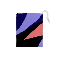 Purple and pink abstraction Drawstring Pouches (Small)