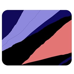 Purple and pink abstraction Double Sided Flano Blanket (Medium)