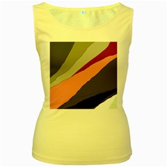 Colorful abstraction Women s Yellow Tank Top