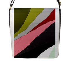 Colorful abstraction Flap Messenger Bag (L)