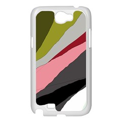 Colorful abstraction Samsung Galaxy Note 2 Case (White)