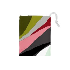 Colorful abstraction Drawstring Pouches (Small)