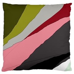 Colorful abstraction Large Flano Cushion Case (Two Sides)