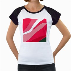 Pink abstraction Women s Cap Sleeve T