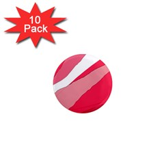 Pink abstraction 1  Mini Magnet (10 pack)
