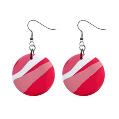 Pink abstraction Mini Button Earrings