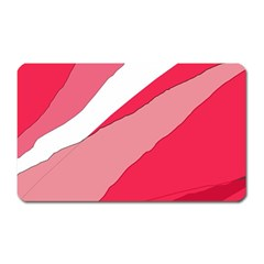 Pink abstraction Magnet (Rectangular)