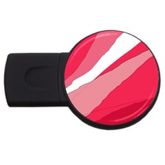Pink abstraction USB Flash Drive Round (1 GB)