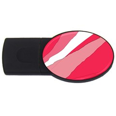 Pink abstraction USB Flash Drive Oval (2 GB)