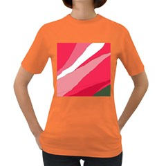 Pink abstraction Women s Dark T-Shirt
