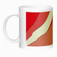 Pink abstraction Night Luminous Mugs