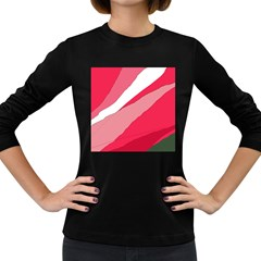 Pink abstraction Women s Long Sleeve Dark T-Shirts