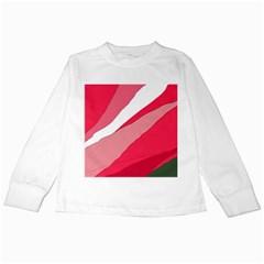 Pink abstraction Kids Long Sleeve T-Shirts