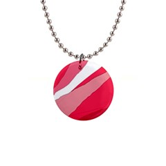 Pink abstraction Button Necklaces