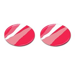 Pink abstraction Cufflinks (Oval)