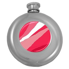 Pink abstraction Round Hip Flask (5 oz)