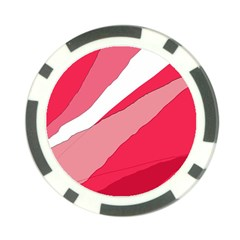 Pink abstraction Poker Chip Card Guards