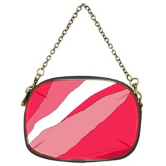 Pink abstraction Chain Purses (Two Sides)