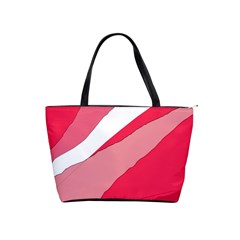 Pink abstraction Shoulder Handbags