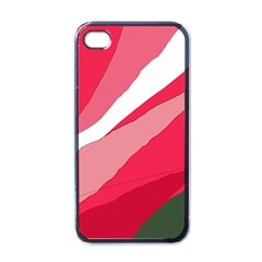 Pink abstraction Apple iPhone 4 Case (Black)