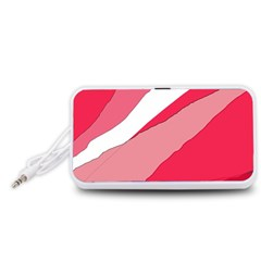 Pink abstraction Portable Speaker (White)