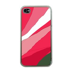 Pink abstraction Apple iPhone 4 Case (Clear)