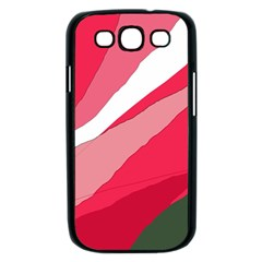 Pink abstraction Samsung Galaxy S III Case (Black)