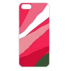 Pink abstraction Apple iPhone 5 Seamless Case (White)