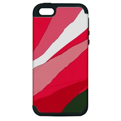 Pink abstraction Apple iPhone 5 Hardshell Case (PC+Silicone)