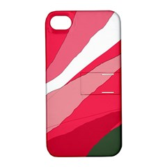 Pink abstraction Apple iPhone 4/4S Hardshell Case with Stand