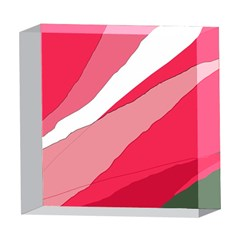 Pink abstraction 5  x 5  Acrylic Photo Blocks