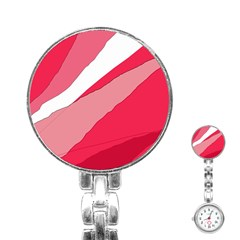 Pink abstraction Stainless Steel Nurses Watch