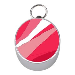 Pink abstraction Mini Silver Compasses