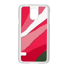 Pink abstraction Samsung Galaxy S5 Case (White)