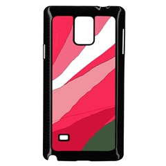 Pink abstraction Samsung Galaxy Note 4 Case (Black)