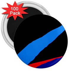 Colorful abstraction 3  Magnets (100 pack)